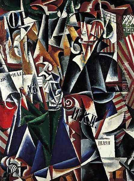 The Traveler Oil Painting - Lyubov Popova