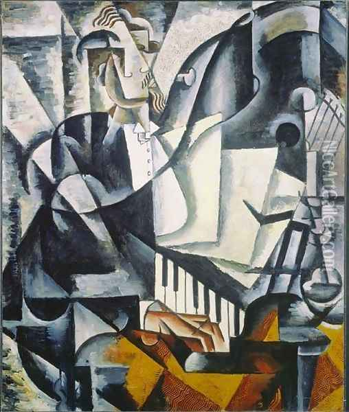 The Pianist Oil Painting - Lyubov Popova