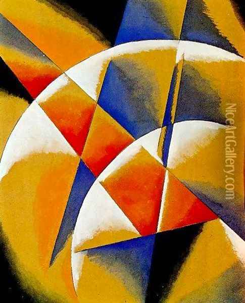 Spatial Force Construction Oil Painting - Lyubov Popova