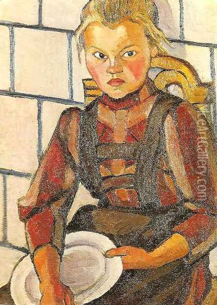 Portrait of the Artist's Sister Oil Painting - Lyubov Popova