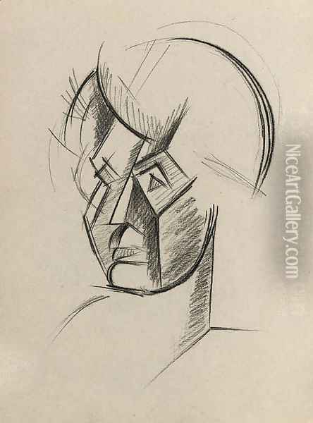 Study of a Cubist Head Oil Painting - Lyubov Popova