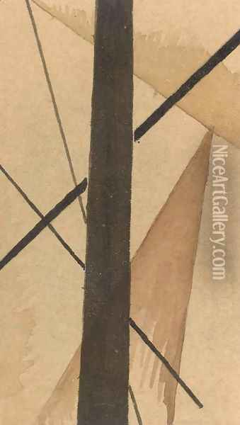 Spatial Force Construction Study Oil Painting - Lyubov Popova