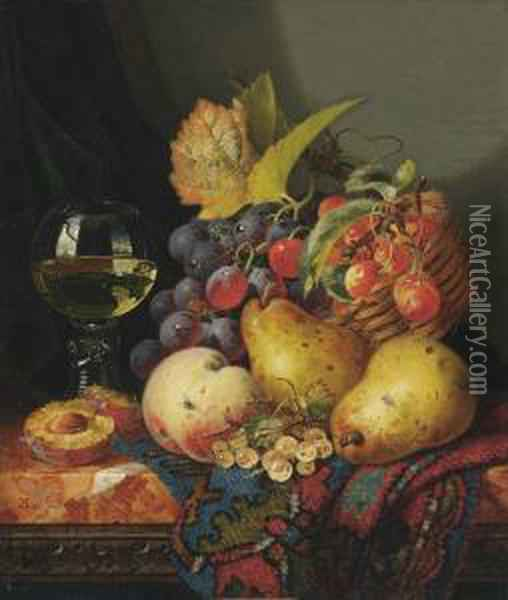 Still Life With Red Grapes And 