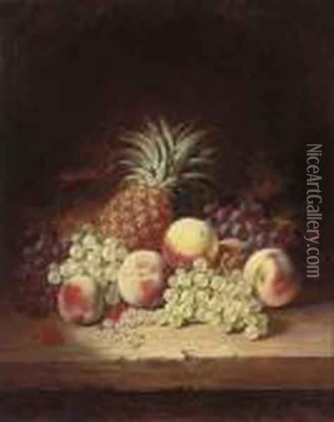 Grapes Oil Painting - Edward Ladell