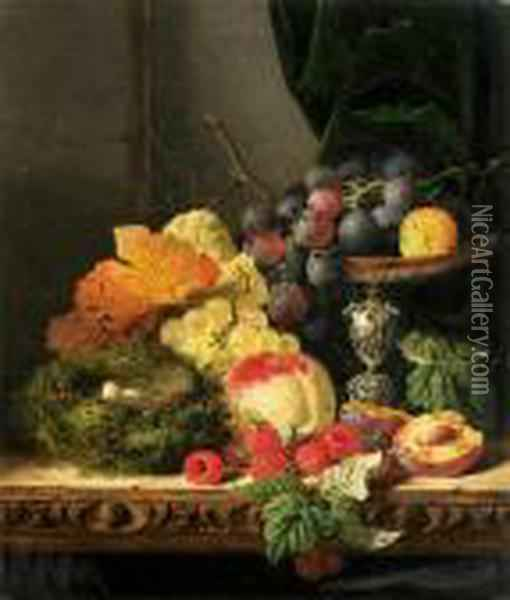 Still Life With Fruit, Leaves 