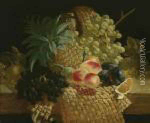 Fruit Stillife Oil Painting - Edward Ladell