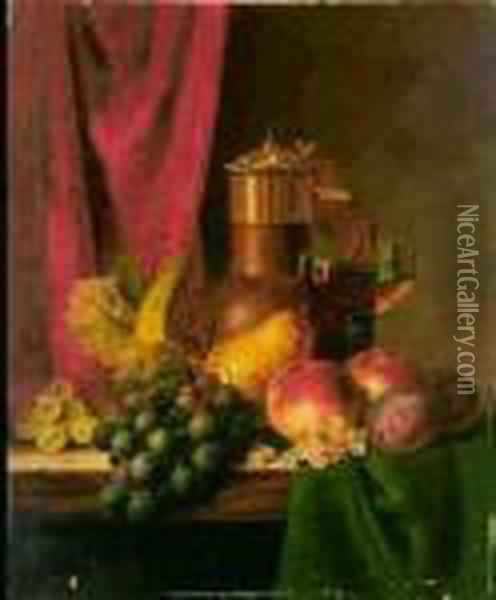 Fruit Oil Painting - Edward Ladell