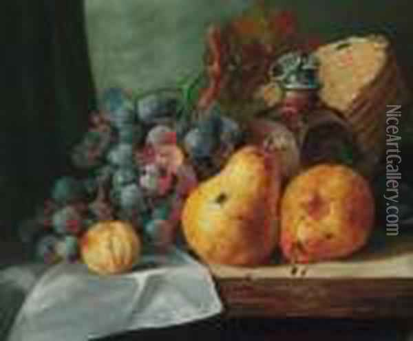 Pears Oil Painting - Edward Ladell