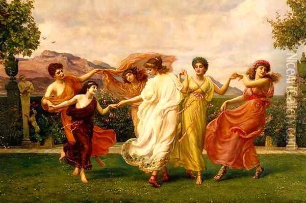 Horae Serenae (detail) Oil Painting - Sir Edward John Poynter