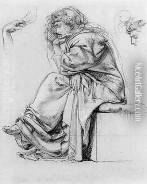 Study for the South Kensington Science Certificate of 1884 Oil Painting - Sir Edward John Poynter