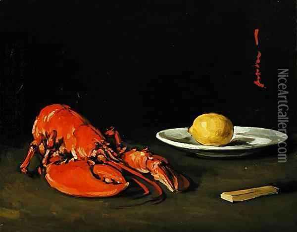 The Lobster, c.1901 Oil Painting - Samuel John Peploe