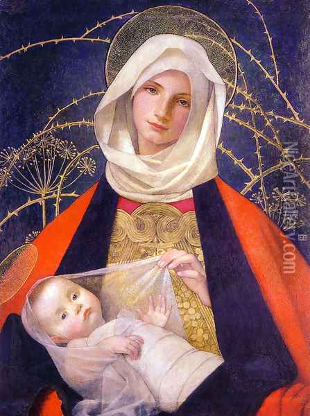 Madonna and Child Oil Painting - Marianne Preindelsberger Stokes