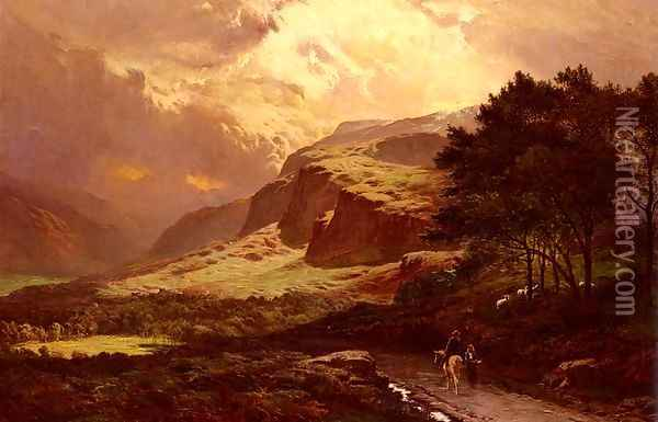 Loch Awe Painting by Sidney Richard Percy Art Reproduction Kilchurn Castle