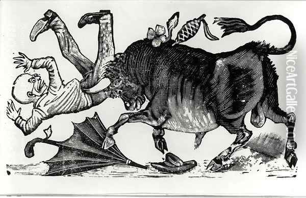 Don Chepito Torero, from Les Aventues de Don Chepito Oil Painting - Jose Guadalupe Posada