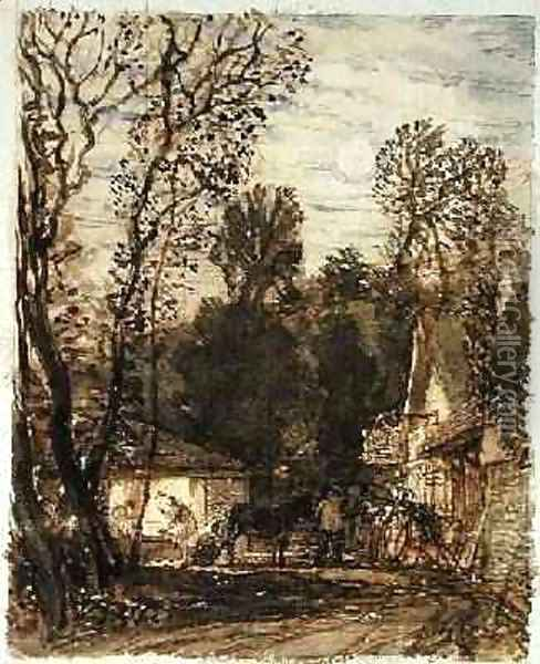 The Wayside Smithy Oil Painting - Samuel Palmer