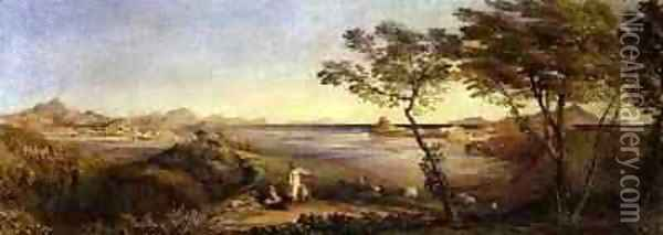 The Bay of Baiae from Monte Nuovo Oil Painting - Samuel Palmer