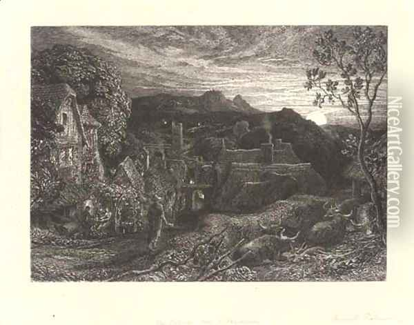 Untitled 6 Oil Painting - Samuel Palmer