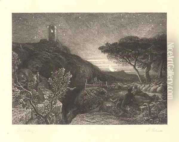 Untitled 7 Oil Painting - Samuel Palmer