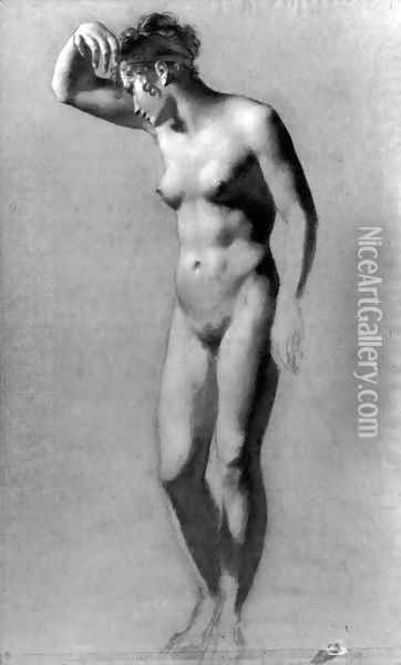 Female Nude Oil Painting - Pierre-Paul Prud'hon