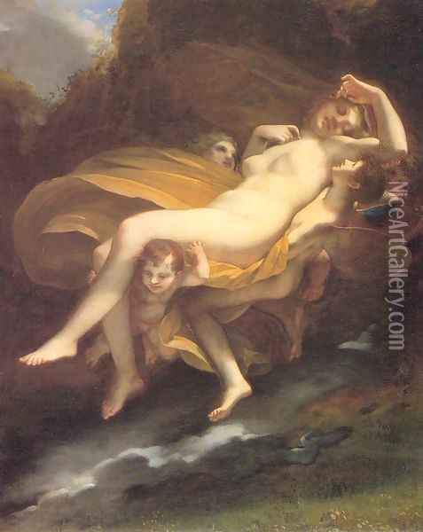 The Abduction of Psyche Oil Painting - Pierre-Paul Prud'hon