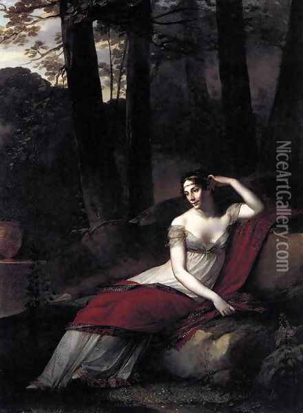 The Empress Josephine c. 1805 Oil Painting - Pierre-Paul Prud'hon