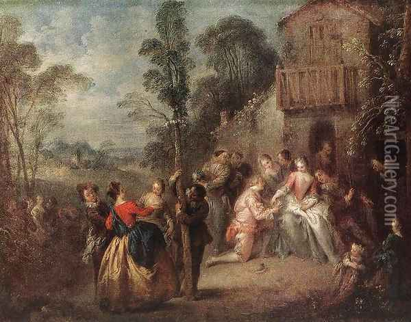 The May Tree Oil Painting - Jean-Baptiste Joseph Pater