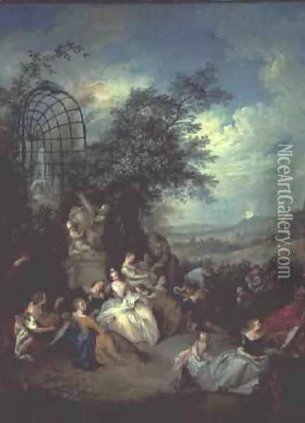 A rustic party Oil Painting - Jean-Baptiste Joseph Pater
