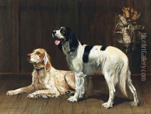 A Pair of Setters Oil Painting - Alexander Pope