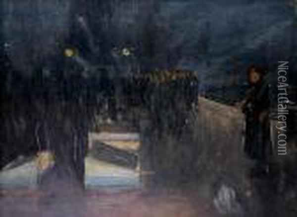 The Arrival Of The German Delegation Oil Painting - John Lavery