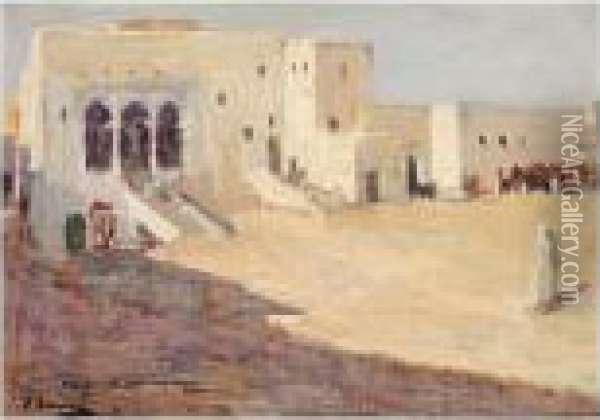 The Palace And The Prison, Tangier Oil Painting - John Lavery