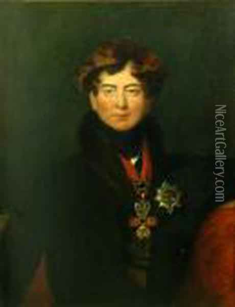 A Portrait Of George Iv Oil Painting - Sir Thomas Lawrence
