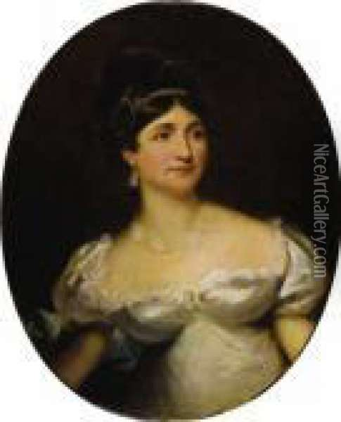 Portrait Of Lady Hertford Oil Painting - Sir Thomas Lawrence