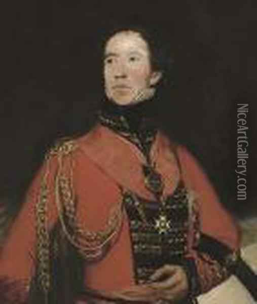 Portrait Of General The Hon. Sir William Lumley Oil Painting - Sir Thomas Lawrence