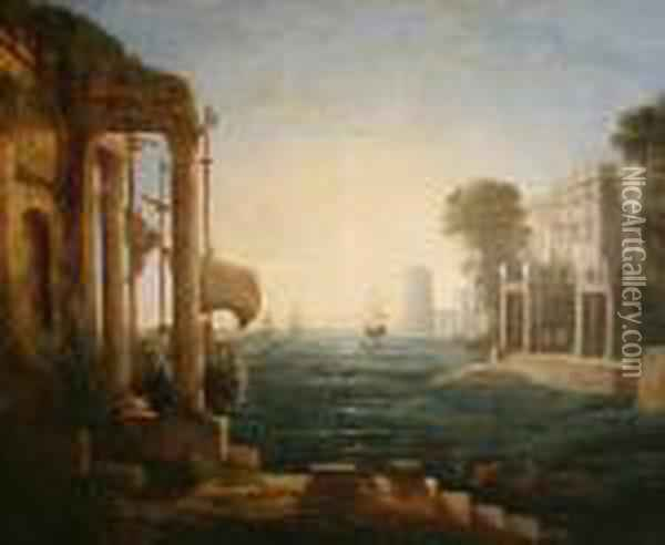 The Embarkation Of The Queen Of Sheba Oil Painting - Claude Lorrain (Gellee)