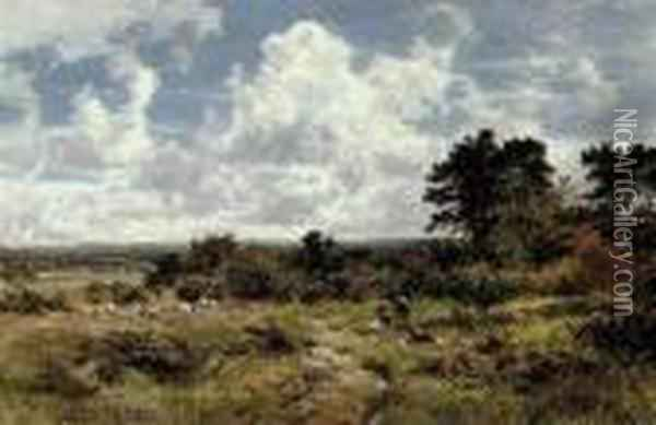 On The Common Oil Painting - Benjamin Williams Leader