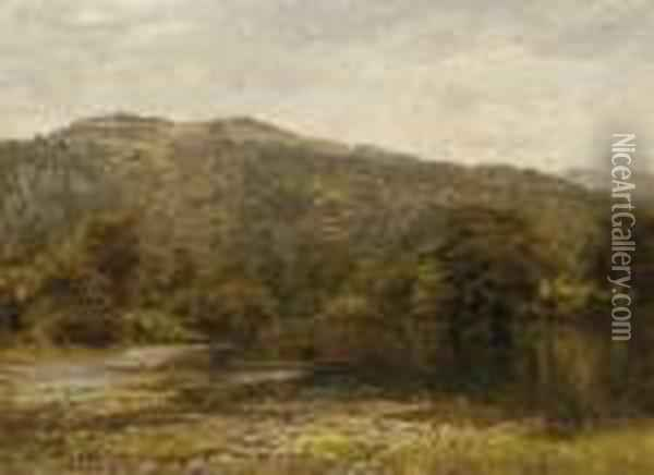 The Usk Valley Oil Painting - Benjamin Williams Leader