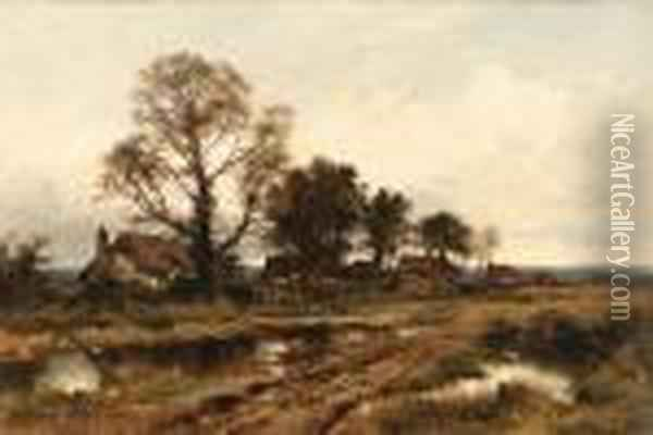 The Outskirts Of A Worcestershire Village Oil Painting - Benjamin Williams Leader