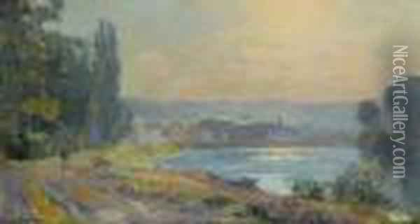 Tournant De La Seine A Bougival Oil Painting - Albert Lebourg