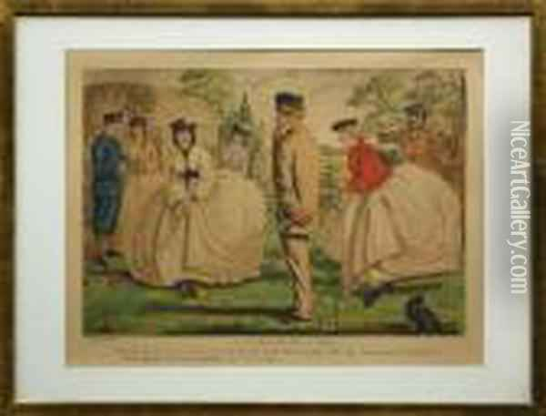 A Nice Game For Two Or More Oil Painting - John Leech