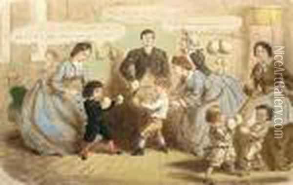 Physical Education 'john Leech' (lower Left) And Inscribed With Title (lower Middle) Oil Painting - John Leech
