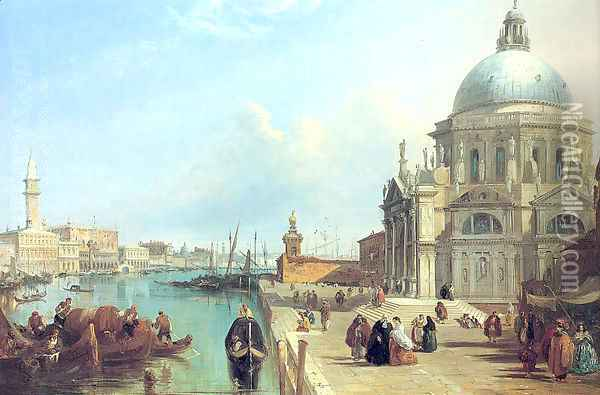 The Salute, Venice Oil Painting - Edward Pritchett