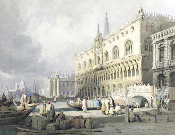Palazzo Ducale, Venice Oil Painting - Samuel Prout