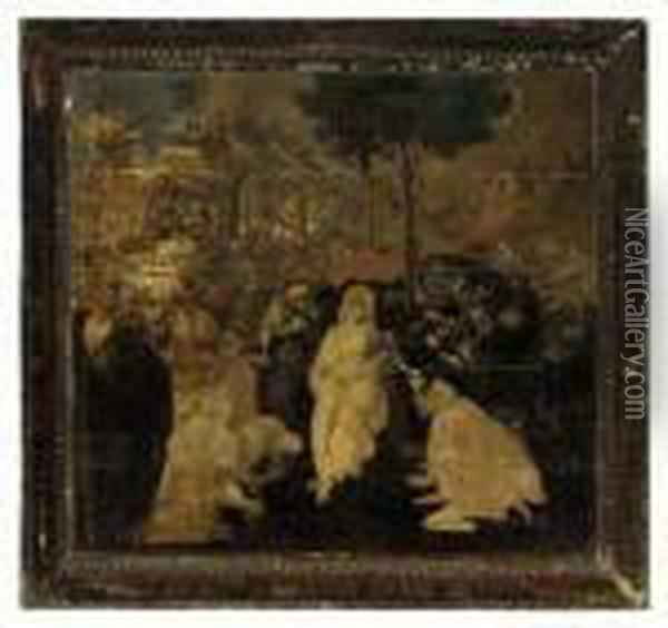 The Adoration Of The Magi Oil Painting - Leonardo Da Vinci