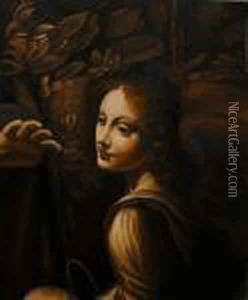 The Virgin Of The Rocks Oil Painting - Leonardo Da Vinci