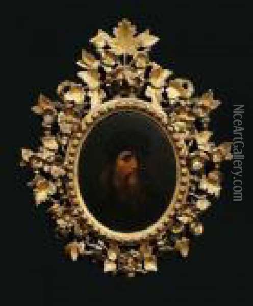 Self-portrait Indistinctly And Inscribed Verso Oil Painting - Leonardo Da Vinci