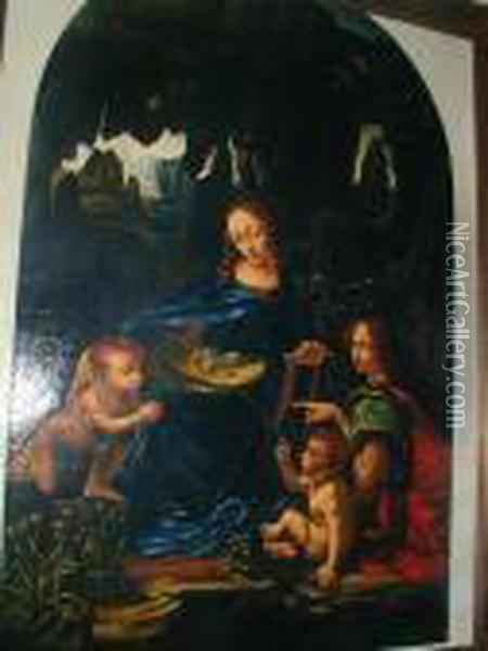 Madonna Of The Rocks Oil Painting - Leonardo Da Vinci