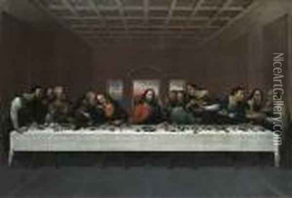 The Last Supper Oil Painting - Leonardo Da Vinci