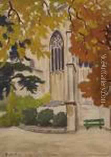 Vitrail Chapelle St Martial Oil Painting - Alfred Lesbros