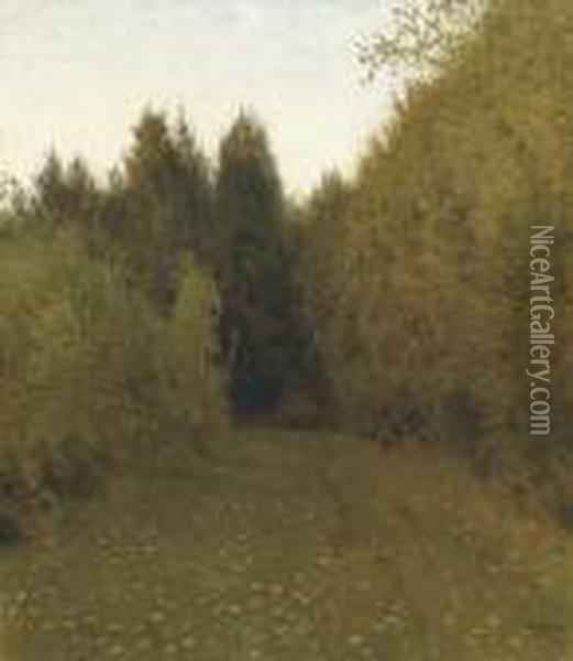 Forest Clearing Oil Painting - Isaak Ilyich Levitan