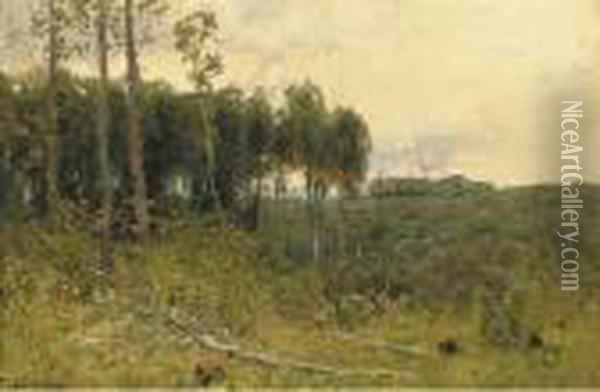 Wooded Landscape Oil Painting - Isaak Ilyich Levitan